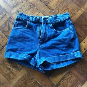 American Apparel High waisted jean shorts!